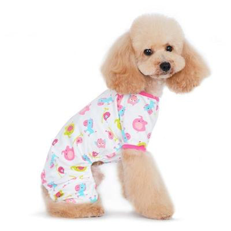 PJ Zoo Dog Pajamas - Pink, Pet Bed, Furbabeez, [tag]