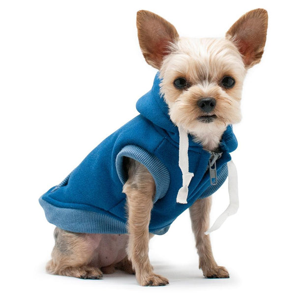 Drawstring Dog Hoodie by DOGO - Blue, Pet Clothes, Furbabeez, [tag]