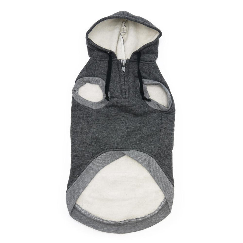 Drawstring Dog Hoodie by DOGO - Gray, Pet Clothes, Furbabeez, [tag]