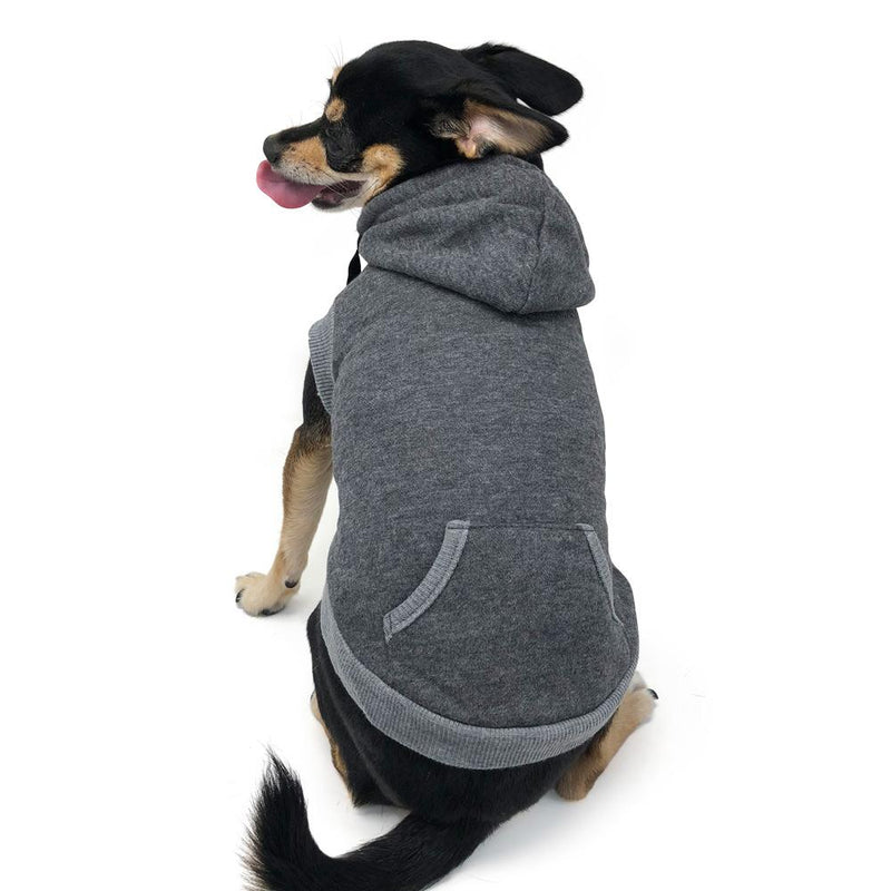 Drawstring Dog Hoodie by DOGO - Gray Pet Clothes DOGO