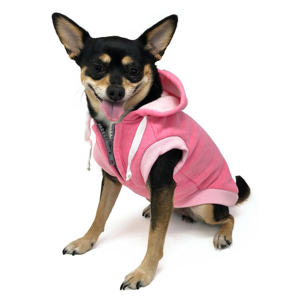 Drawstring Dog Hoodie by DOGO - Pink, Pet Clothes, Furbabeez, [tag]
