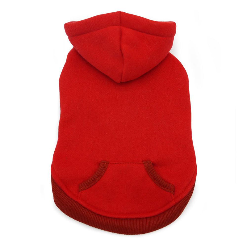 Drawstring Dog Hoodie by DOGO - Red, Pet Clothes, Furbabeez, [tag]