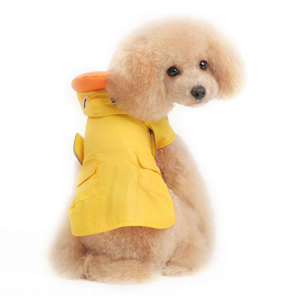 Duck Dog Raincoat by Dogo - Yellow Pet Clothes DOGO
