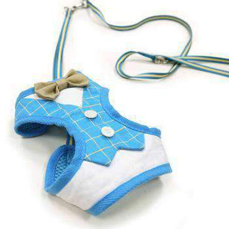 EasyGo Bowtie Dog Harness by Dogo - Blue, Collars and Leads, Furbabeez, [tag]