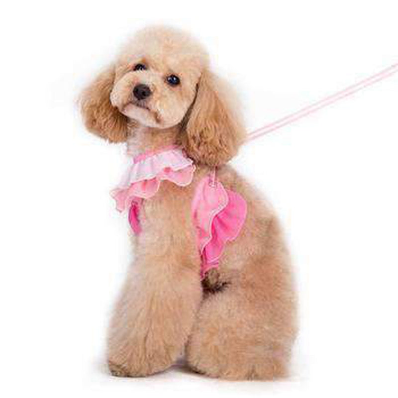 EasyGo Multi Ruffle Dog Harness by Dogo - Pink, Collars and Leads, Furbabeez, [tag]