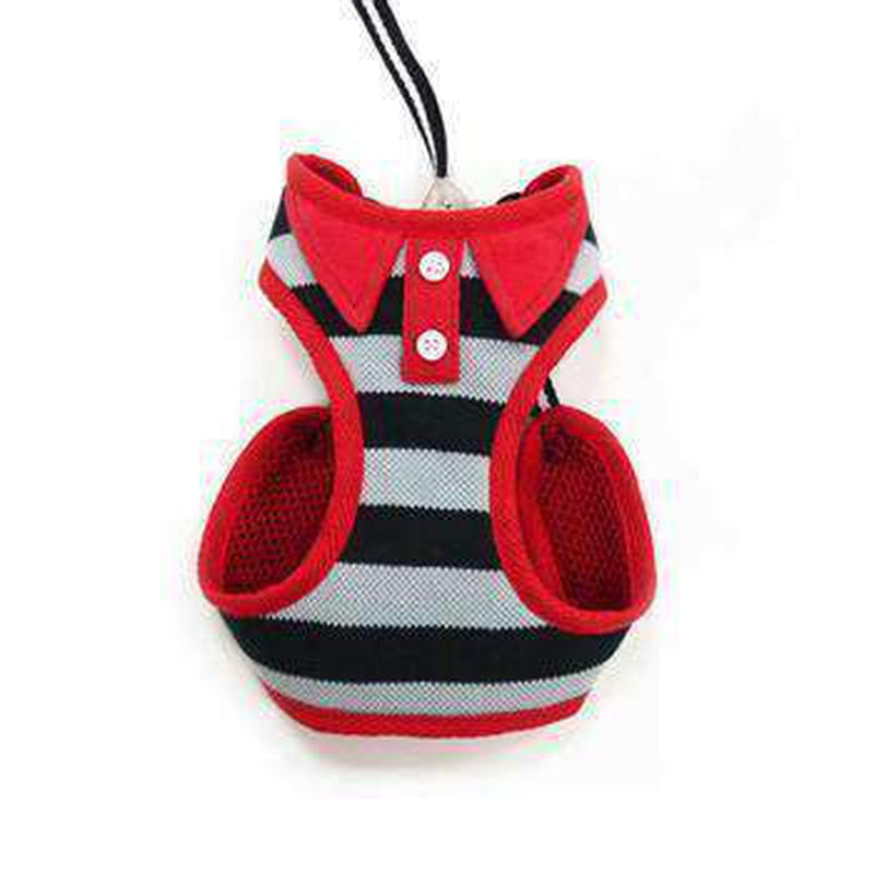EasyGo Polo Stripe Dog Harness by Dogo - Black, Collars and Leads, Furbabeez, [tag]
