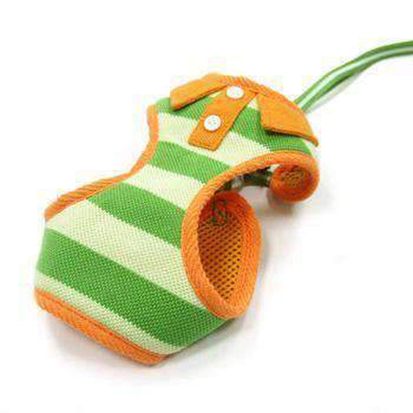 EasyGo Polo Stripe Dog Harness by Dogo - Green, Collars and Leads, Furbabeez, [tag]