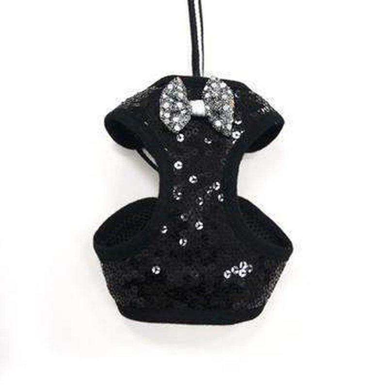 EasyGo Sequins Dog Harness - Black, Collars and Leads, Furbabeez, [tag]