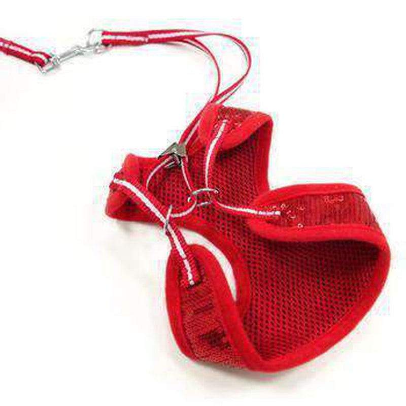 EasyGo Sequins Dog Harness by Dogo - Red, Collars and Leads, Furbabeez, [tag]