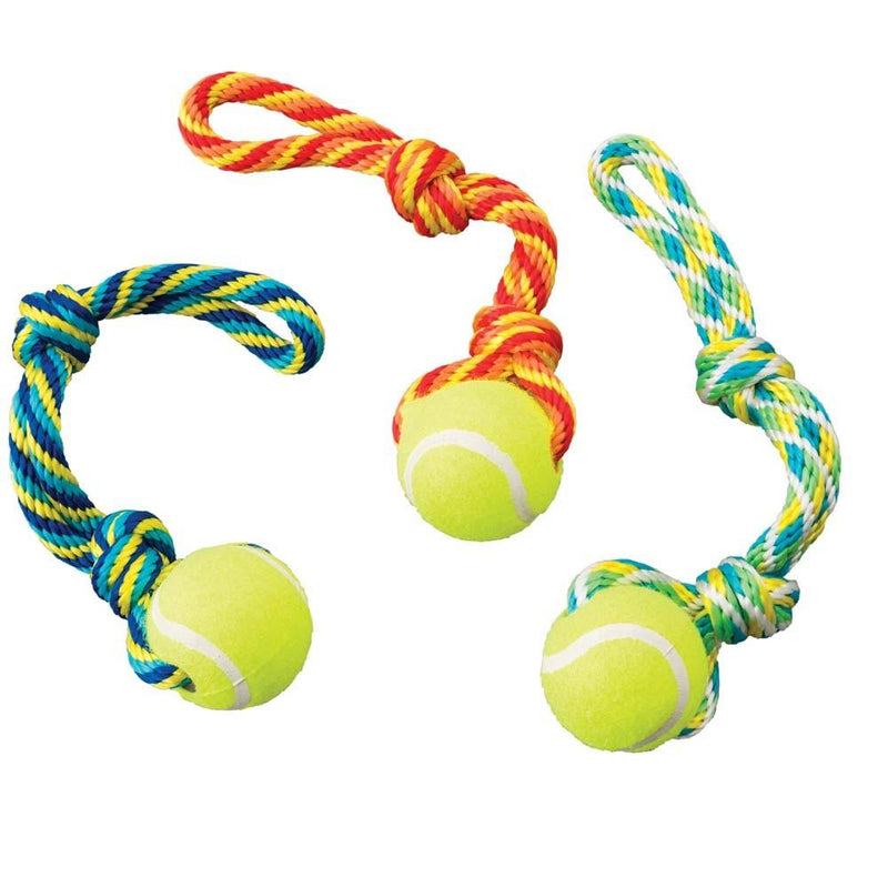 "Ethical Tuggaball Handle Assorted 12"" Pet Toys Ethical Pet / Spot"