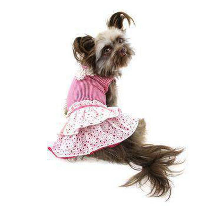 Eyelet Flower Dog Dress, Pet Clothes, Furbabeez, [tag]