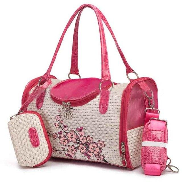 Floral Designer Dog Carrier Pet Accessories Oberlo Raspberry