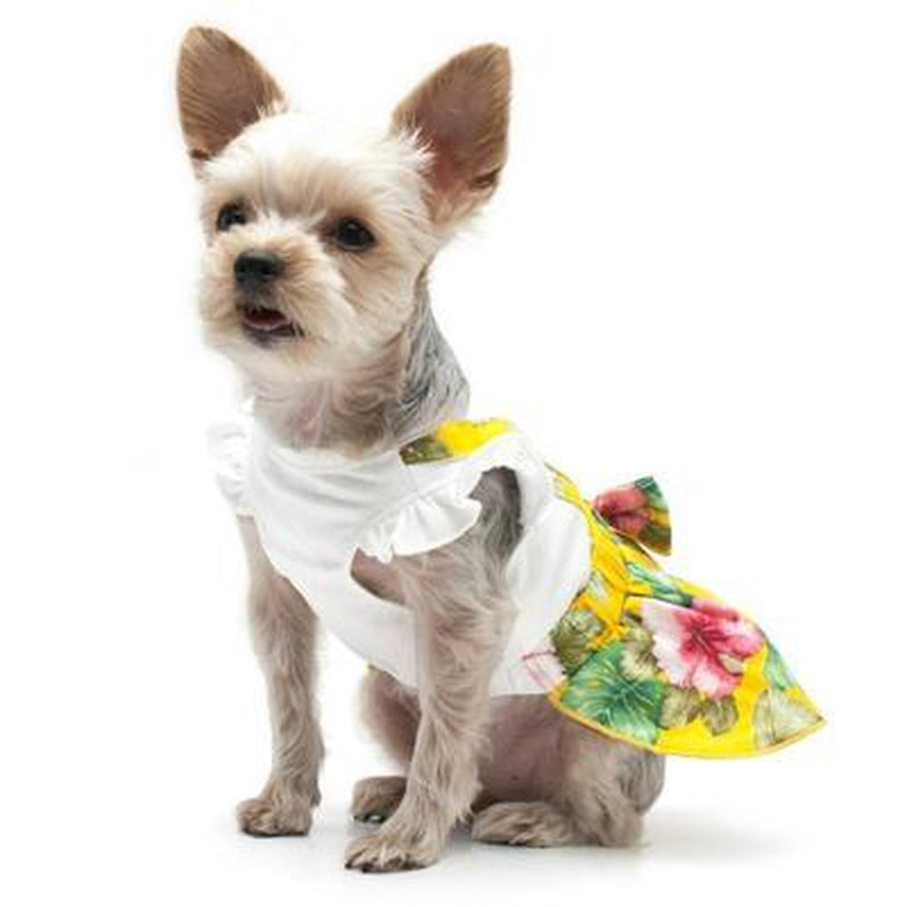 Floral Suspender Dog Dress, Pet Clothes, Furbabeez, [tag]