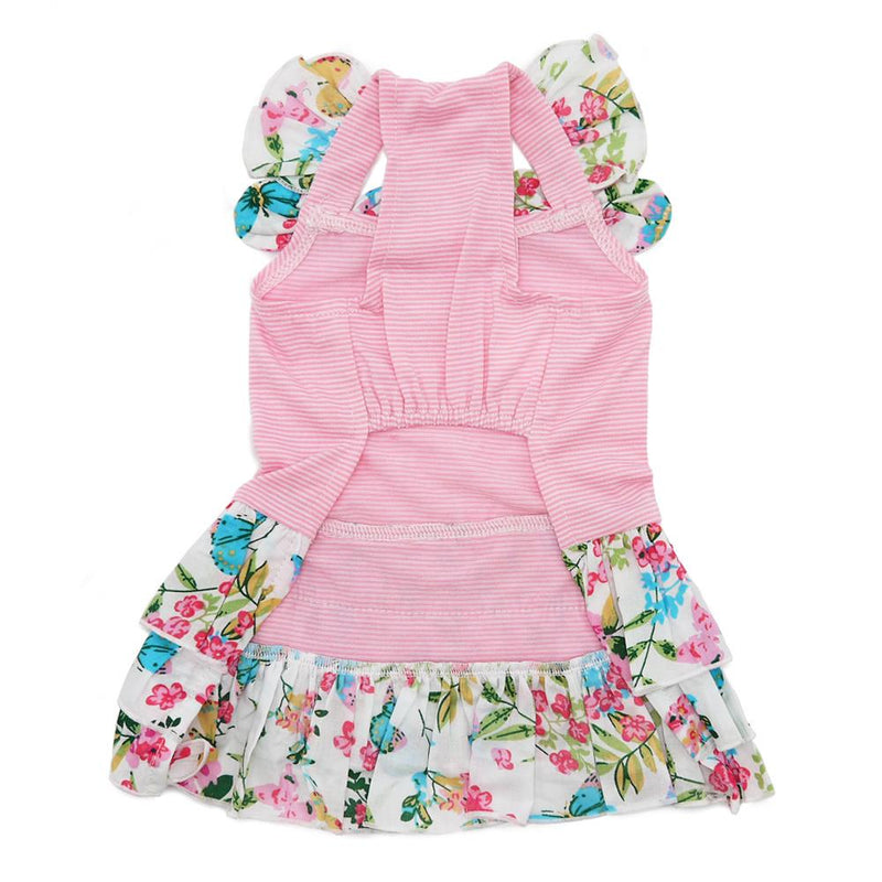 Flowy Butterfly Ruffle Skirt Dog Dress Pet Clothes DOGO