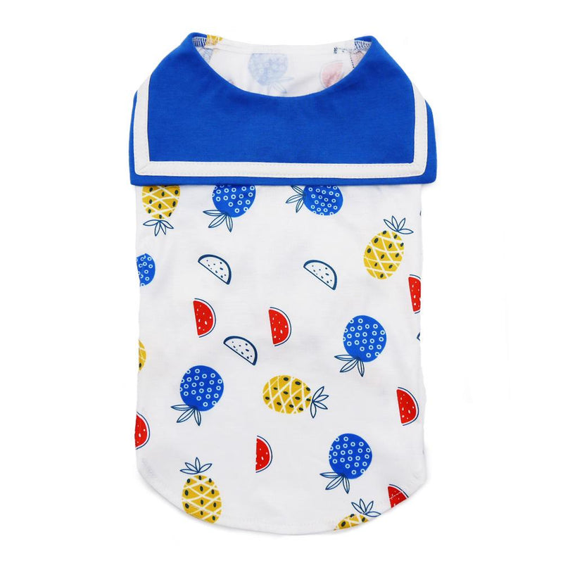 Fruit Dog Tank with Sailor Collar Pet Clothes DOGO