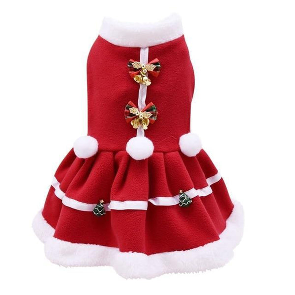 Fur Trimmed Christmas Dog Dress Pet Clothes Oberlo S