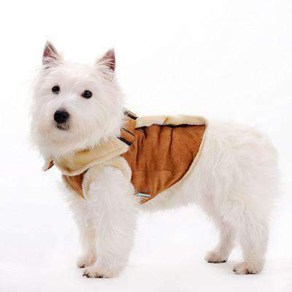 Furry Winter Harness Coat - Brown, Pet Clothes, Furbabeez, [tag]