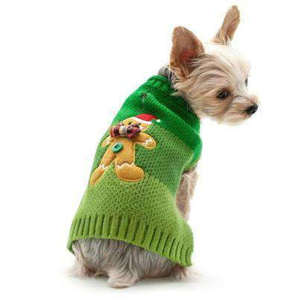 Gingerbread Man Dog Sweater, Pet Clothes, Furbabeez, [tag]