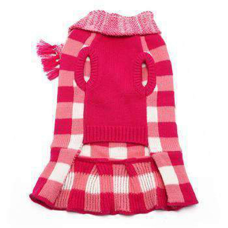 Gingham Dog Sweater Dress, Pet Clothes, Furbabeez, [tag]