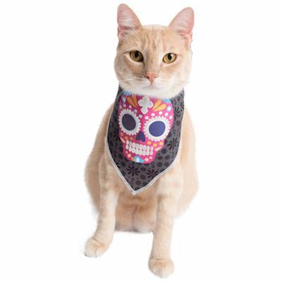 Glow-in-the-Dark Skull Bandana Costume Pet Accessories Pet Krewe