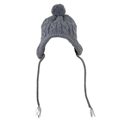 Grey Toboggan Wool Beanie Dog Hat Pet Accessories Worthy Dog
