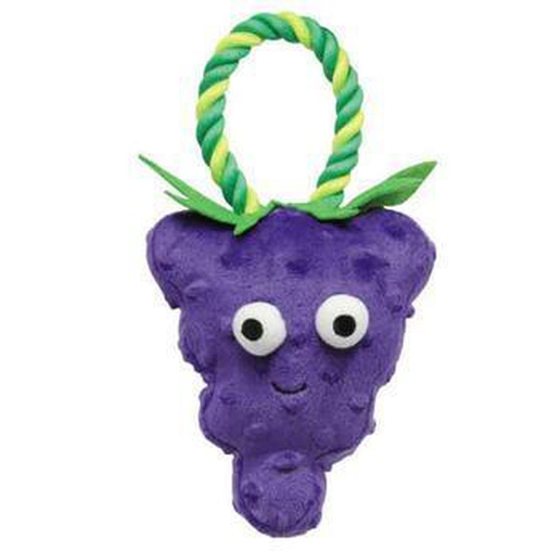 Grriggles Happy Fruit Rope Tug Dog Toy - Grapes, Pet Toys, Furbabeez, [tag]