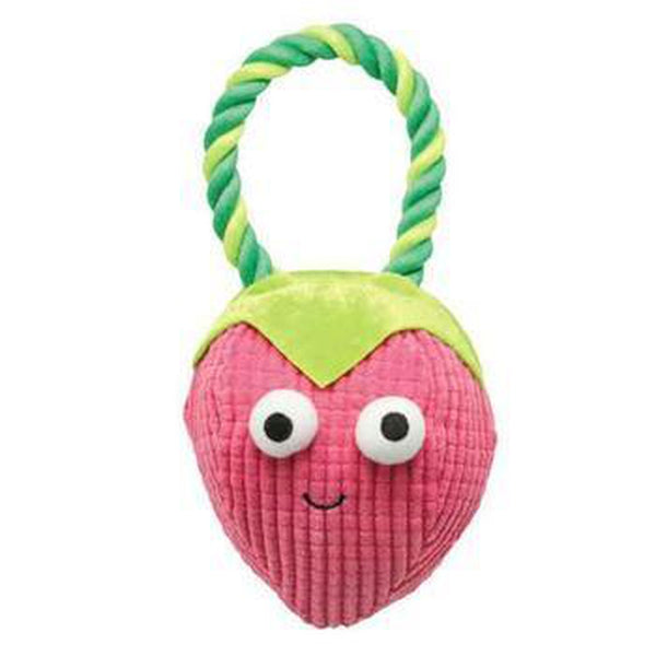 Grriggles Happy Fruit Rope Tug Dog Toy - Strawberry Pet Toys Grriggles Dog Toys