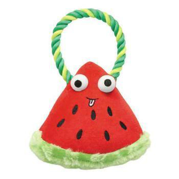 Grriggles Happy Fruit Rope Tug Dog Toy - Watermelon Pet Toys Grriggles Dog Toys