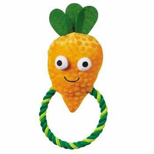 Grriggles Happy Veggies Rope Tug Dog Toy - Carrot Pet Toys Grriggles Dog Toys