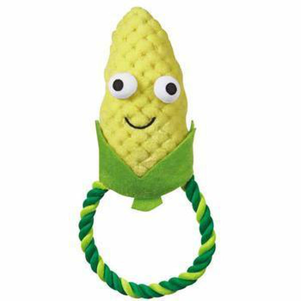 Grriggles Happy Veggies Rope Tug Dog Toy - Corn Pet Toys Grriggles Dog Toys