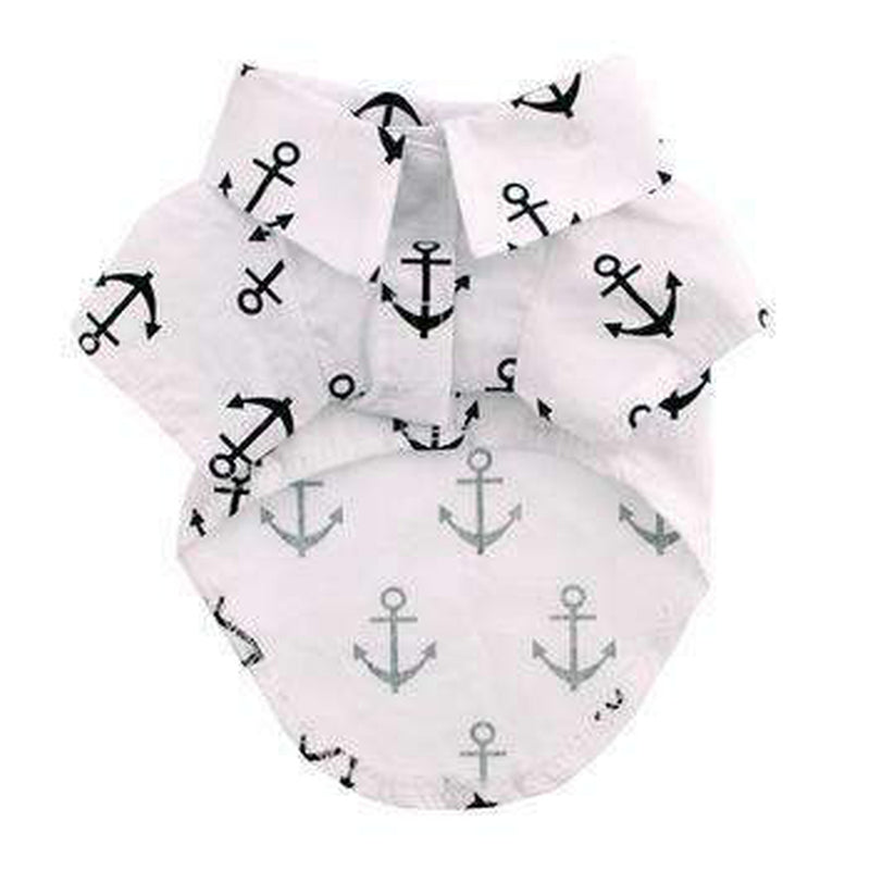 Hawaiian Camp Shirt - Anchors Away, Pet Clothes, Furbabeez, [tag]