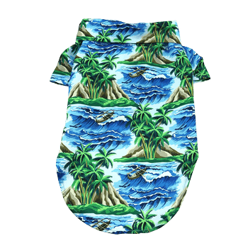 Hawaiian Camp Shirt - Island Life Pet Clothes Doggie Design