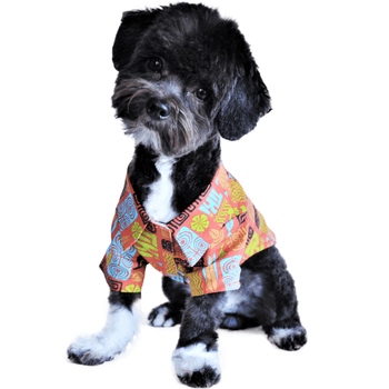 Hawaiian Camp Shirt - Tiki Pet Clothes Doggie Design