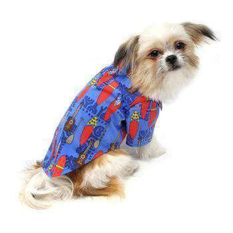 Hawaiian Camp Shirt - Ukuleles and Surfboards, Pet Clothes, Furbabeez, [tag]