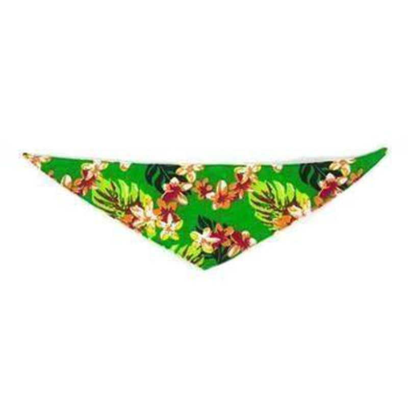 Hawaiian Line Dog Bandana by Push Pushi - Green, Collars and Leads, Furbabeez, [tag]