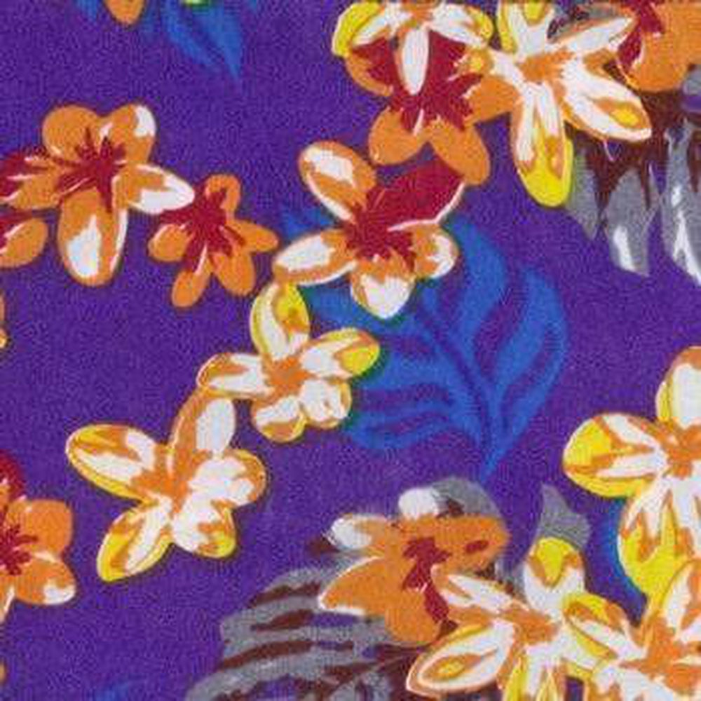 Hawaiian Line Dog Bandana by Push Pushi - Purple