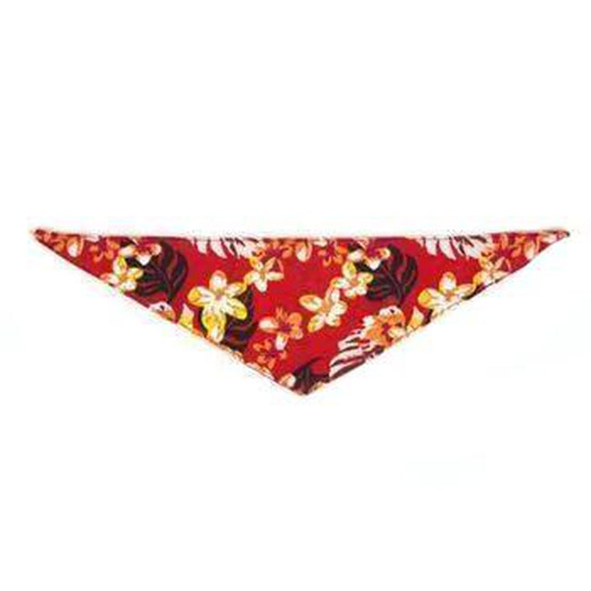 Hawaiian Line Dog Bandana by Push Pushi - Red, Collars and Leads, Furbabeez, [tag]