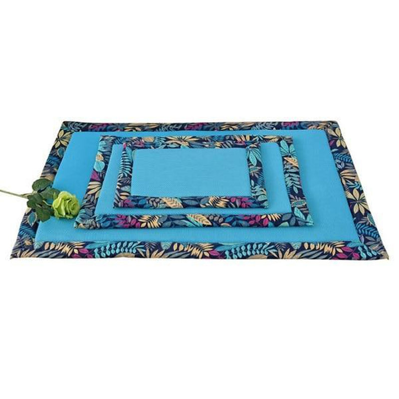 Hawaiian Trim Cooling Pet Crate Mat, Pet Bed, Furbabeez, [tag]