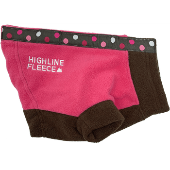 Highline Fleece Dog Coat - Pink and Brown with Polka Dots Pet Clothes Doggie Design