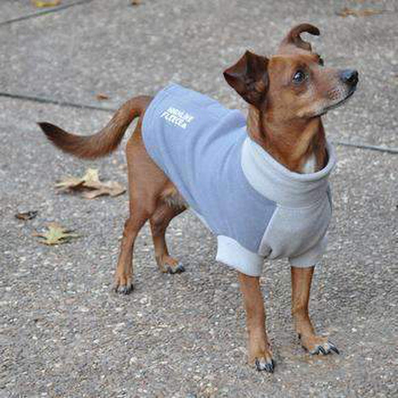 Highline Fleece Dog Coat - Two Tone Gray, Pet Clothes, Furbabeez, [tag]