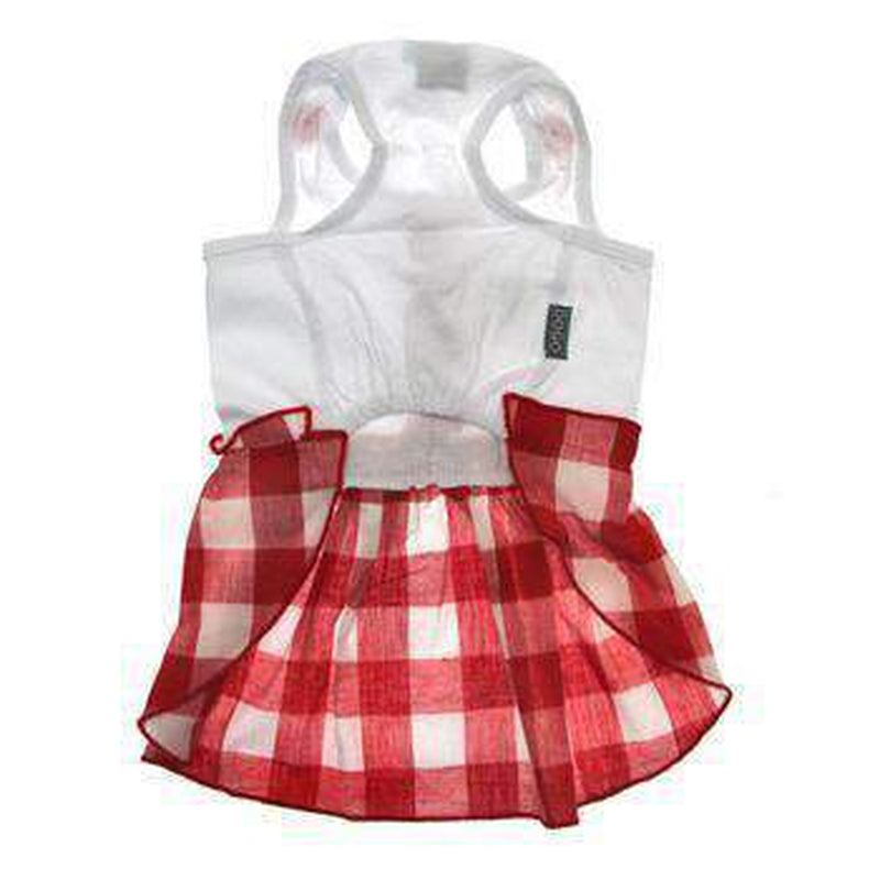 Hippie Country Plaid Dog Dress, Pet Clothes, Furbabeez, [tag]