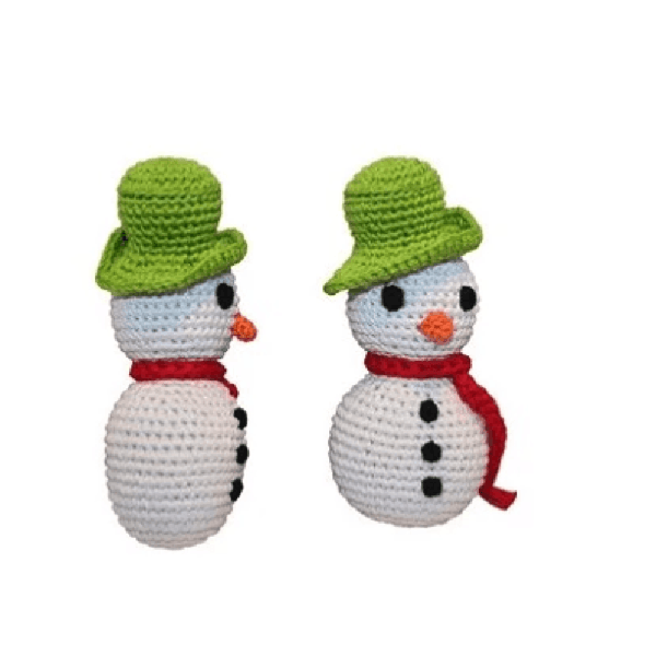 Holiday Knit Knack Frost The Snowman Organic Small Dog Toy, Pet Toys, Furbabeez, [tag]