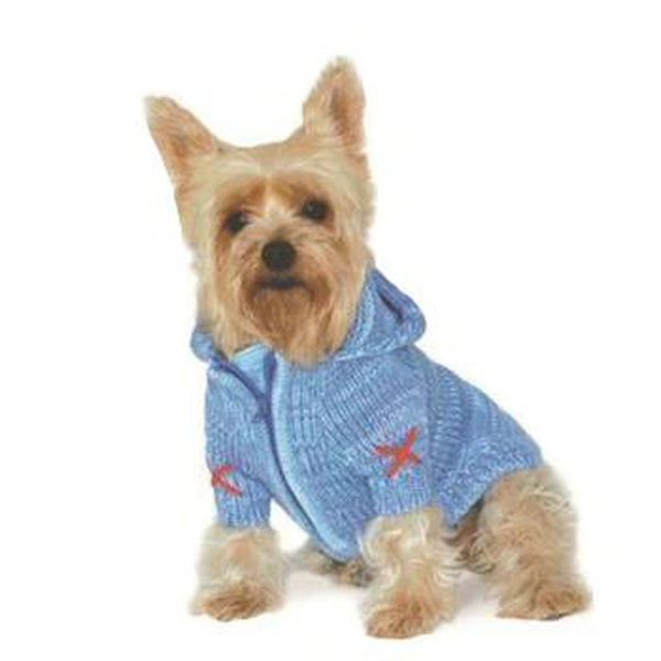 Hoodie Sweater Dog Coat by Dogo - Blue, Pet Clothes, Furbabeez, [tag]