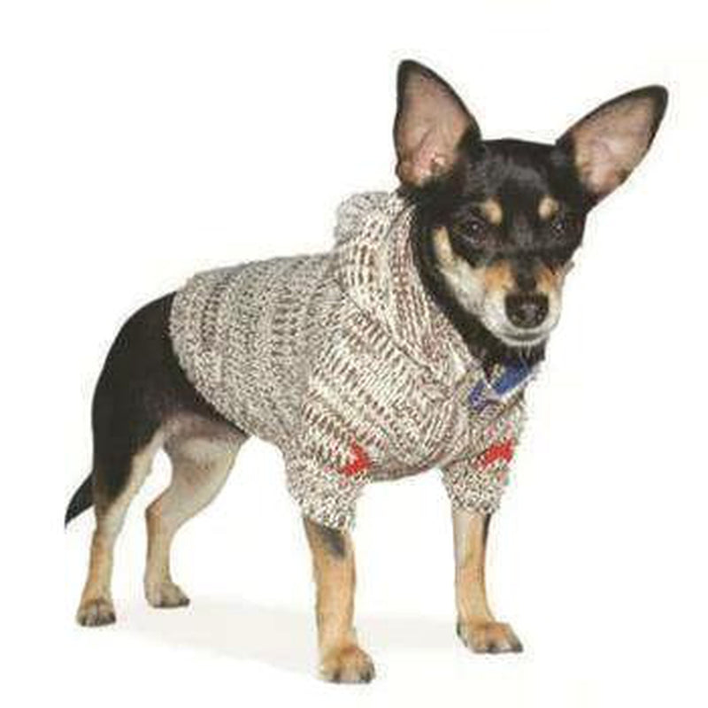 Hoodie Sweater Dog Coat - Oatmeal, Pet Clothes, Furbabeez, [tag]
