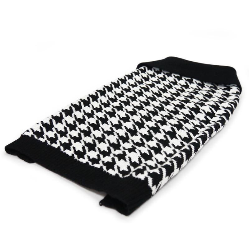 Houndstooth Dog Sweater, Pet Clothes, Furbabeez, [tag]