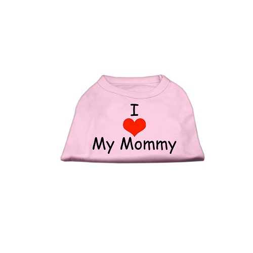 I Love Mommy Dog Tank Pet Clothes Mirage Pink XS