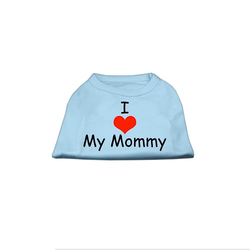 I Love Mommy Dog Tank Pet Clothes Mirage Turquoise XS