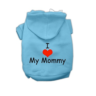 I LOVE MY MOMMY Dog Hoodie Pet Clothes Oberlo