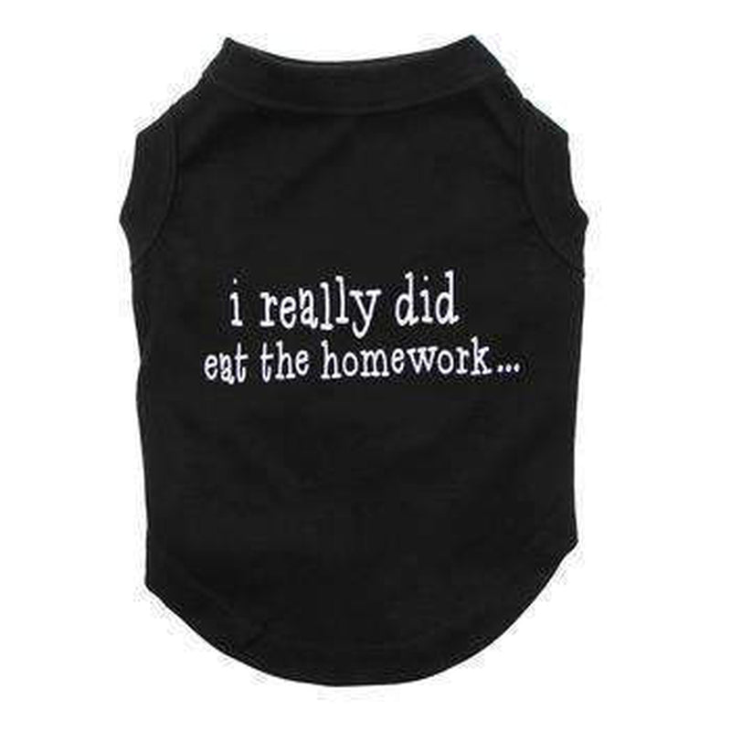 I Really Did Eat The Homework Dog Shirt - Black Pet Clothes Mirage