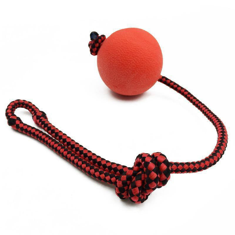 Indestructible Dog Ball Tug Toy, Pet Toys, Furbabeez, [tag]